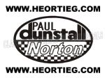 Paul Dunstall Norton Tank and Fairing Transfer Decal D20084A-1